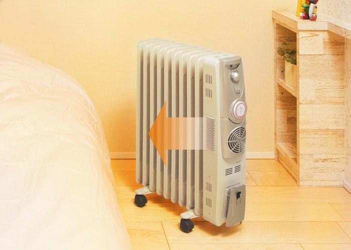 温風ファン付きオイルヒーター
