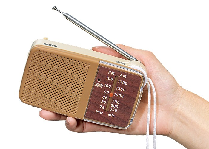 ダイヤル式簡単ラジオ