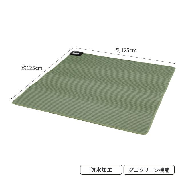 畳柄防水電気カーペット 125×125cm