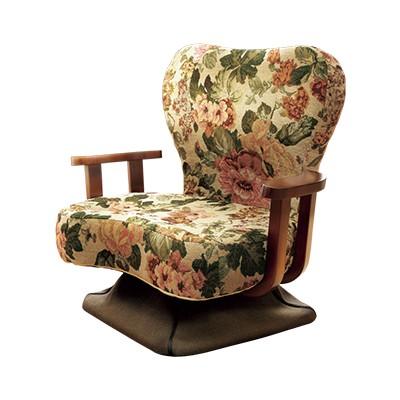 腰にやさしい回転式ゴブラン座椅子