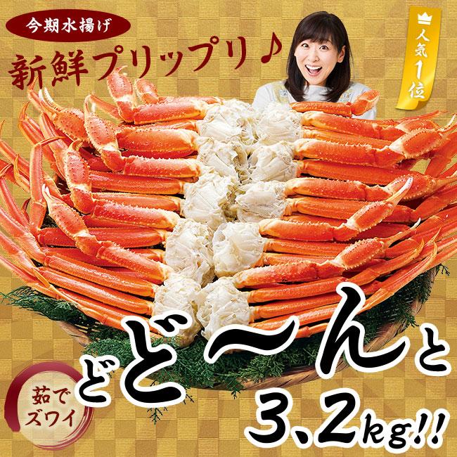 特選ズワイガニ脚 大盛3.2kg(特典品付)