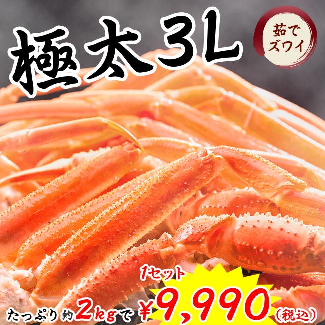 特選・3Lサイズ本ズワイガニ脚肉お買い得セット(特典品付)