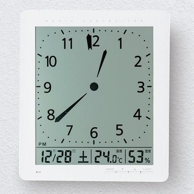見やすいデジタル電波時計