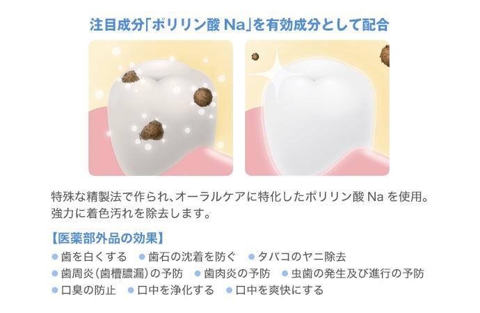 <歯を白くするハミガキ>デンタルホワイトプロイズム3本セット