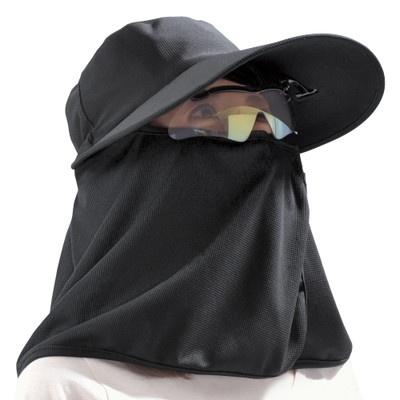 照り返しも防ぐヒンヤリ つば広帽子2色セット
