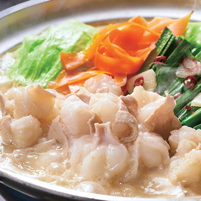 日本料理「てら岡」の博多もつ鍋セット