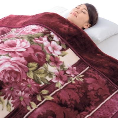 掛布団カバーになる 衿付きマイヤー毛布