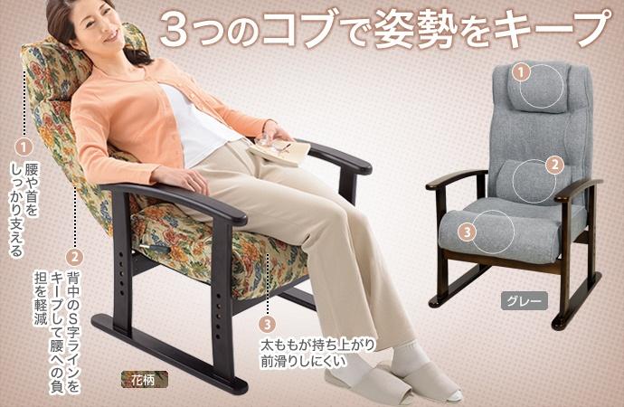 特徴:ぼりゅ〜む高座椅子