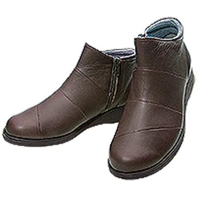 牛革5Eショートブーツ