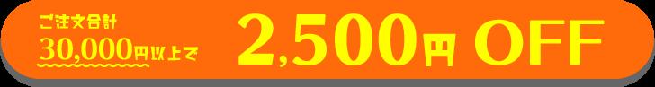 ご注文合計30,000円以上で2,500円OFF