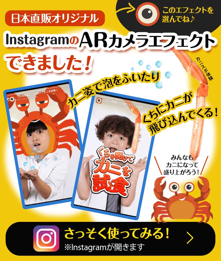 【日本直販オリジナル】InstagramのARカメラエフェクトできました!