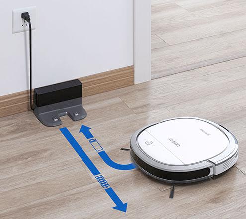 ディーボットスリム15が自動で充電台に戻っているイメージ写真