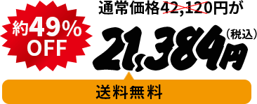 通常価格¥42,120が49%OFF